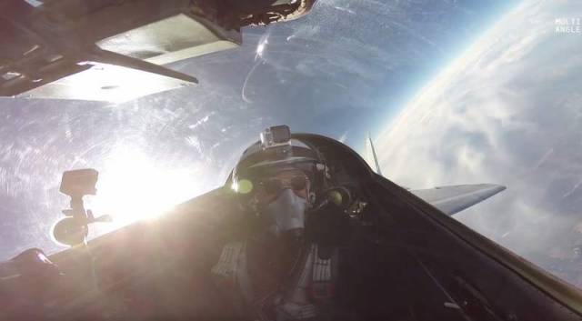 Reaching the stratosphere on a MiG-29 -2