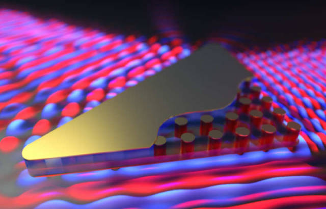 New zero-index material made of silicon pillar arrays