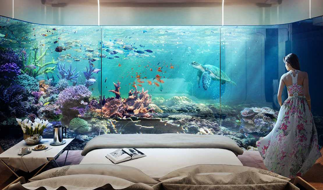Underwater villas let you sleep with the fishes