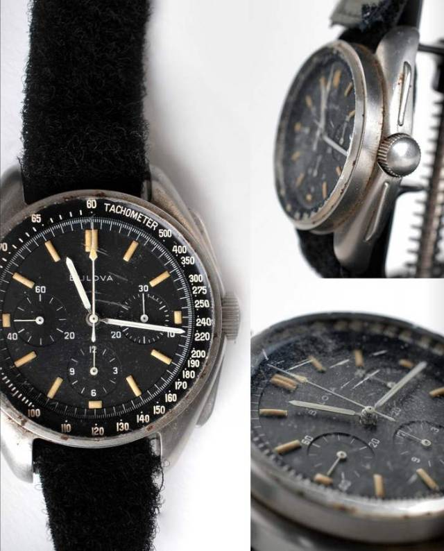 Bulova wrist Chronograph watch worn on the Moon in 1971 (4)