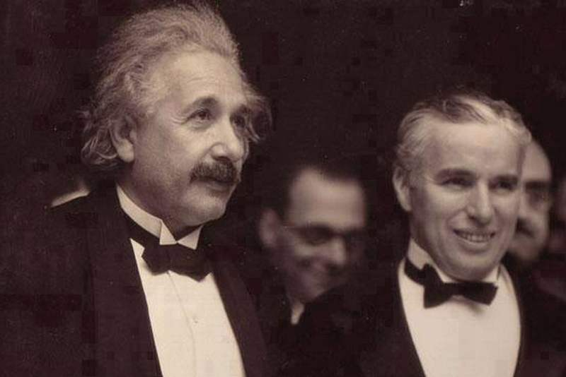 From the meeting between Einstein and Chaplin