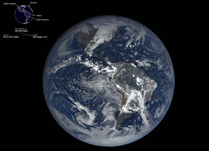 Daily views of Earth from space