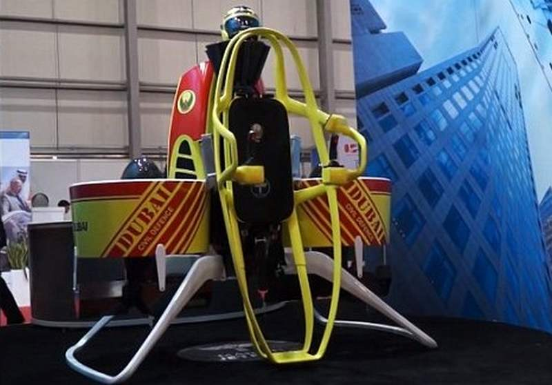 Dubai's firefighters with jetpacks