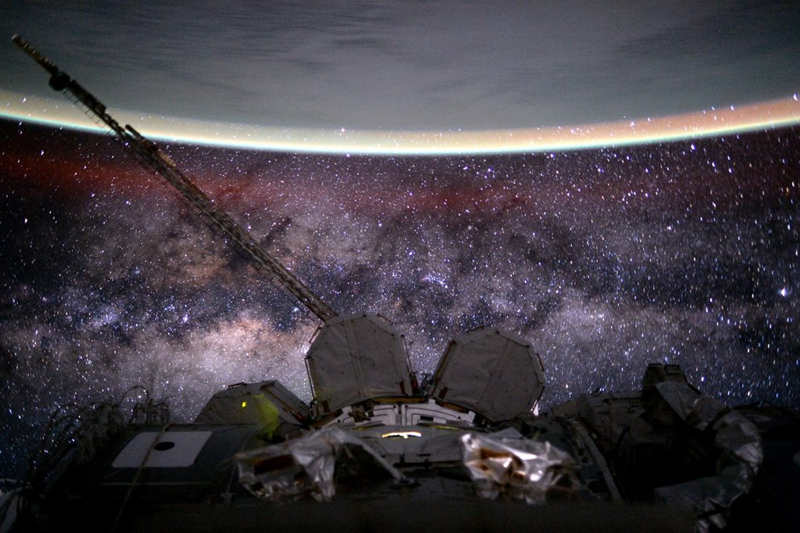 Earth and Milky Way from ISS