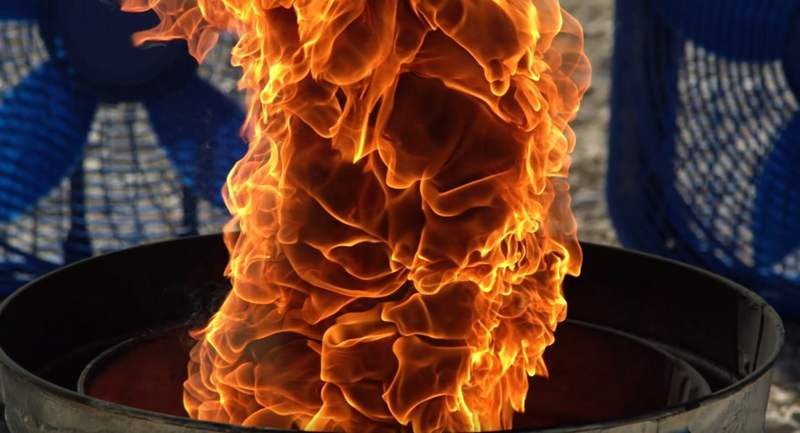 Fire Tornado in Slow Motion