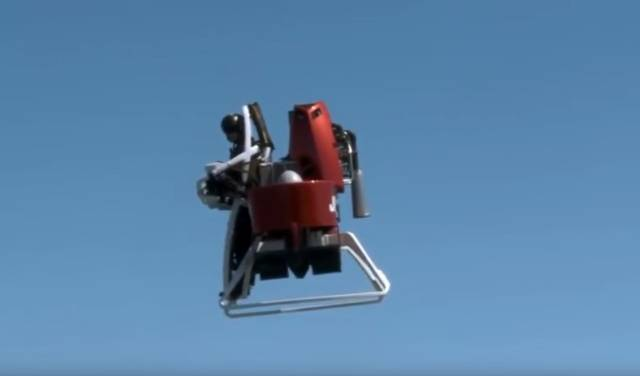 Flying around in a Martin Jetpack