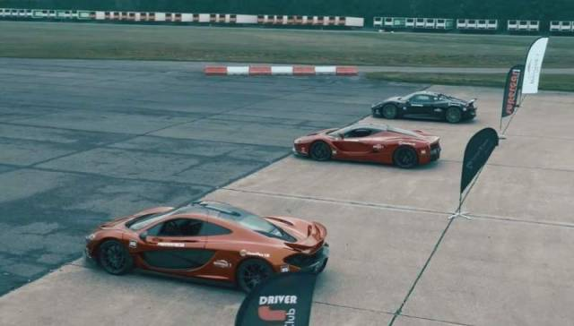 Hypercar Trio- accelerating from 0 - 300 kph