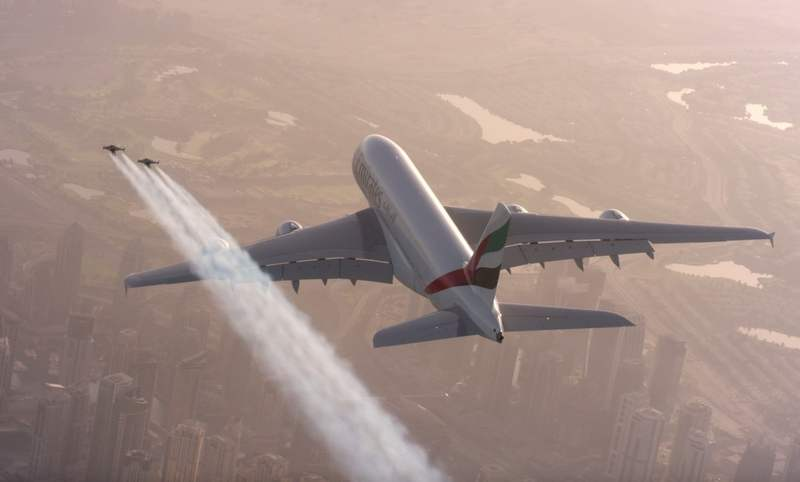 Jetmen Fly with an Airbus A380 (7)