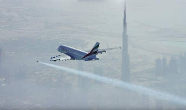 Jetmen Fly with an Airbus A380 (2)