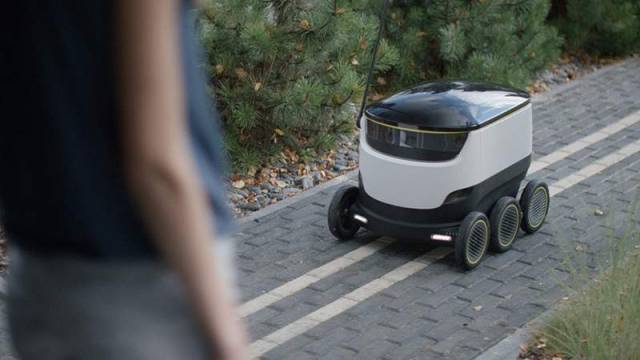 Self-Driving Delivery Robot
