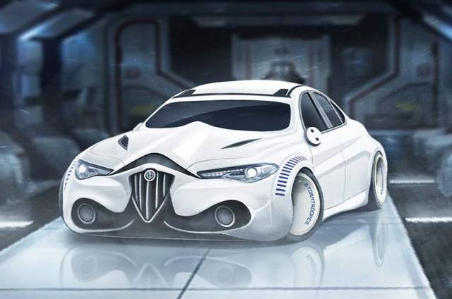 Star Wars characters as Sports cars