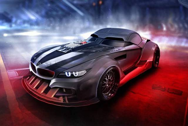 Star Wars characters as Sports cars (5)