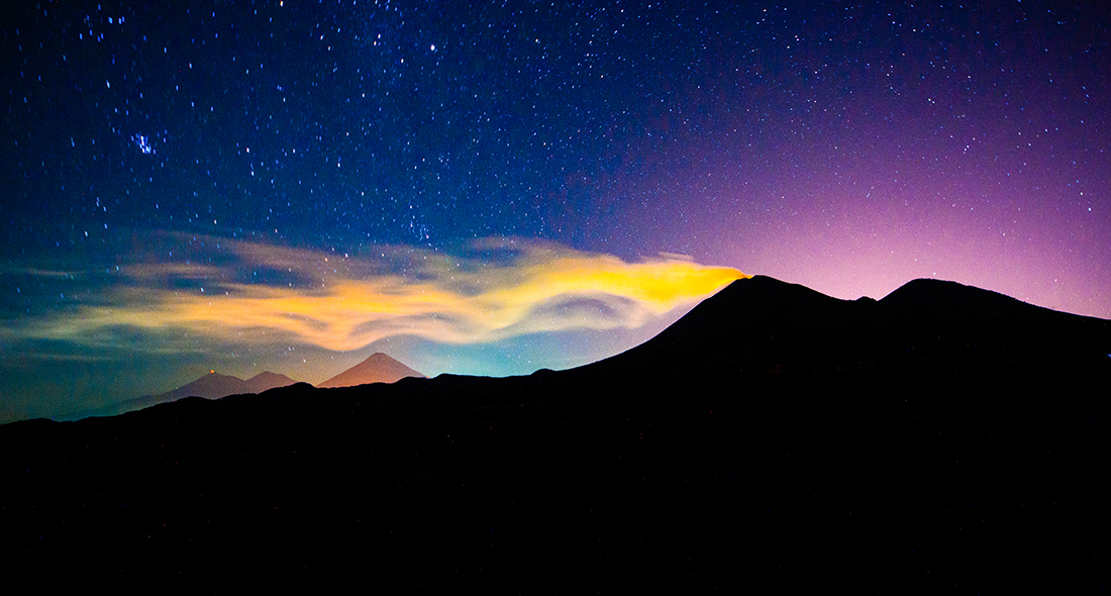 Volcan de Fuego at Night