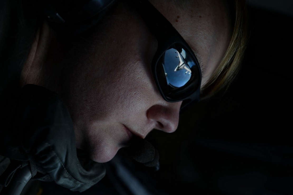 E-3 Sentry (AWACS) in the Reflection of her Sunglasses