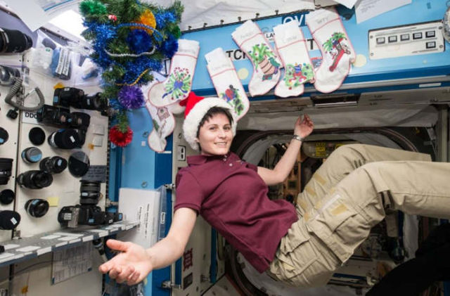 Expedition 42 Flight Engineer Samantha Cristoforetti