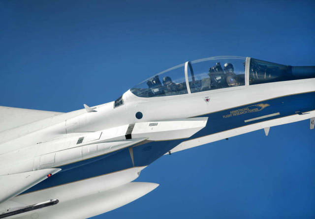 F-15D Eagle escort aircraft on OLYMPEX mission