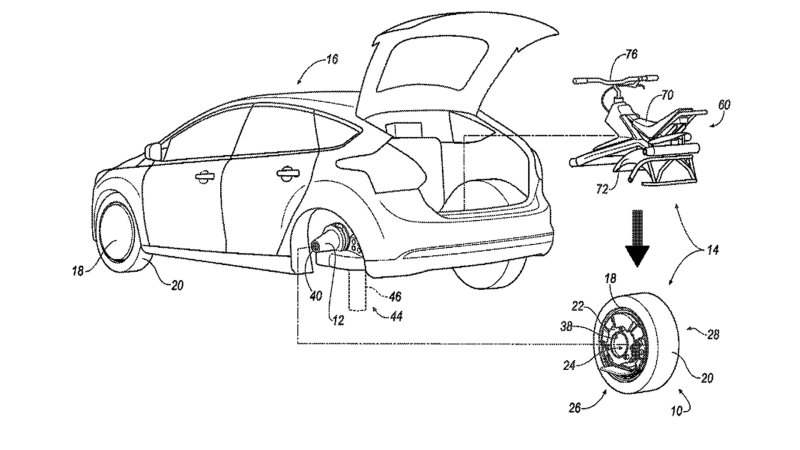 Ford unveiled a car that can separate into a motorcycle