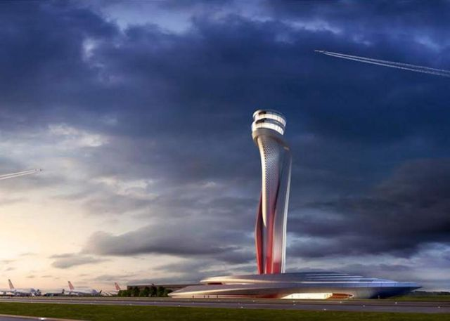 Istanbul New Airport's Traffic Control Tower