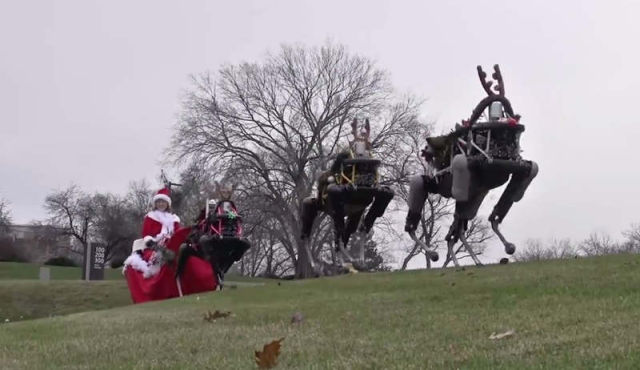 Look at the way Boston Dynamics wishes you Happy Holiday