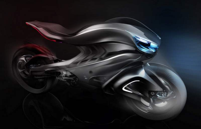 Mercedes benz revenge 2030 conceptual motorbike wordlesstech for Mercedes benz motorcycle