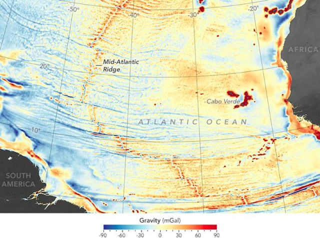 Most detailed Seafloor map by gravity anomalies