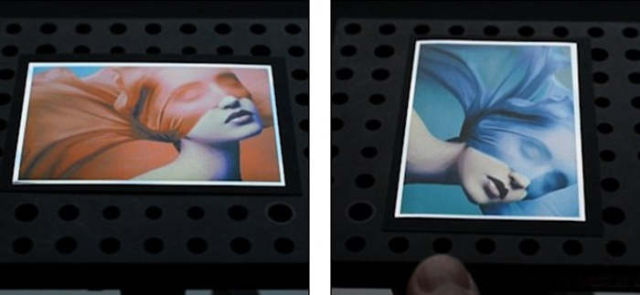 Printing technique hides one image behind the other