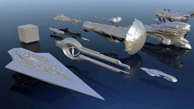 Size comparison of spaceships