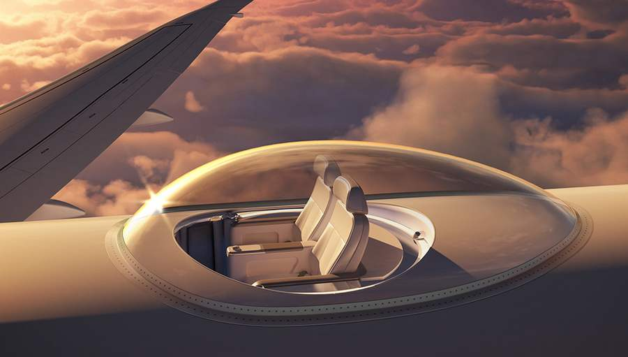 Wordlesstech Skydeck On Top Of An Airplane