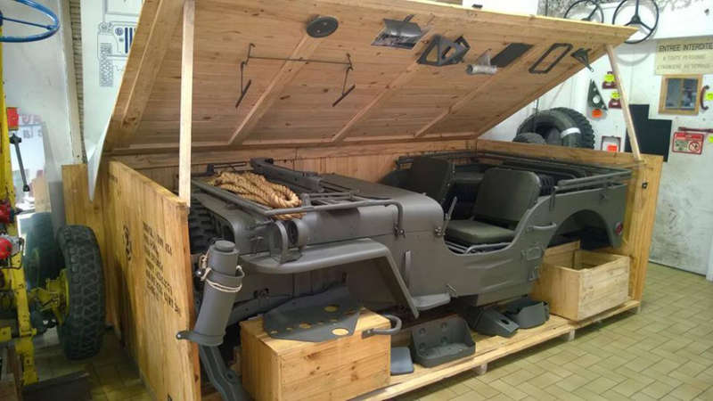 This is the way Jeeps shipped during World War II