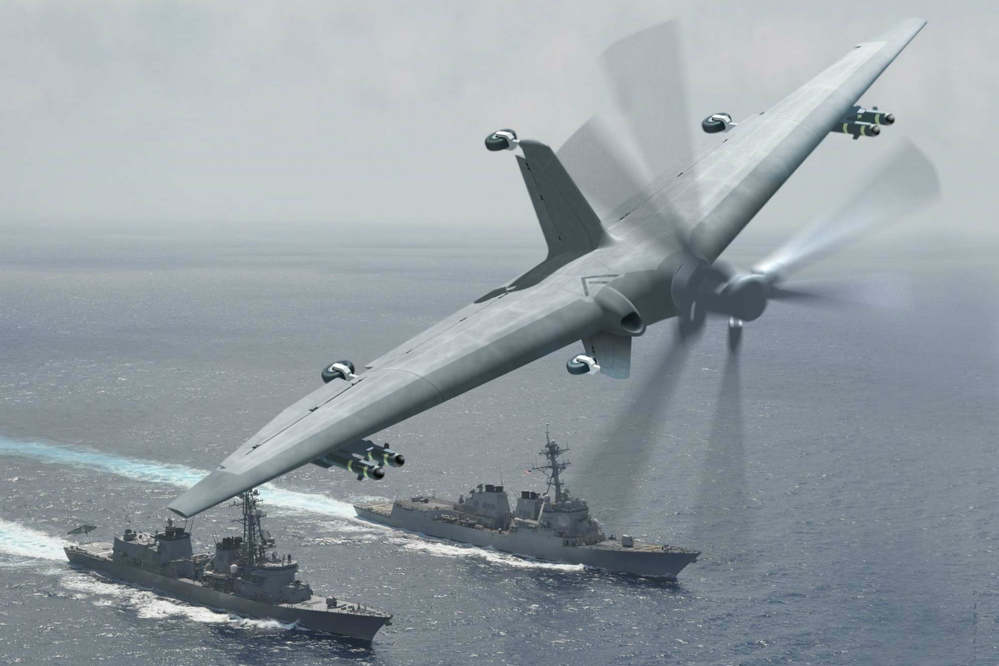 Unmanned VTOL Aircraft designed for small Ships