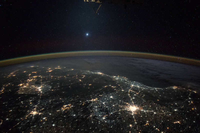 Venus From the ISS