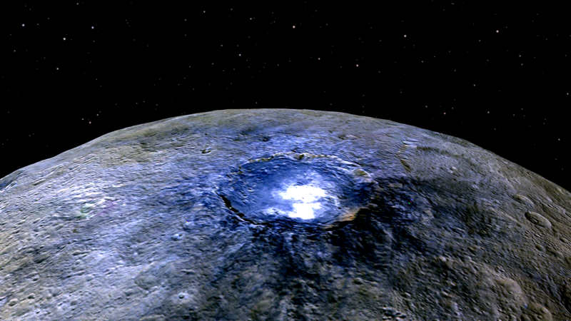 what the Bright Spots on Ceres are made of