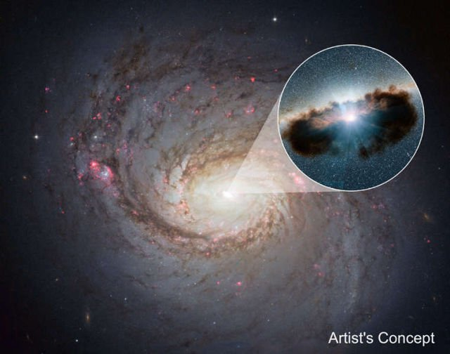 Supermassive black hole in spiral galaxy Messier 77 (NGC 1068)