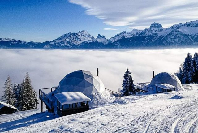 Whitepod Hotel in the Swiss Alps