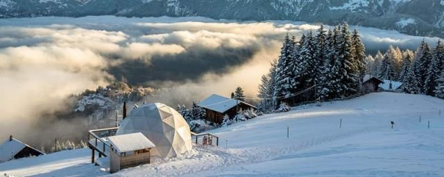 Whitepod Hotel in the Swiss Alps (3)