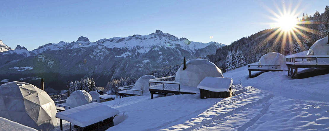 Whitepod Hotel in the Swiss Alps (1)