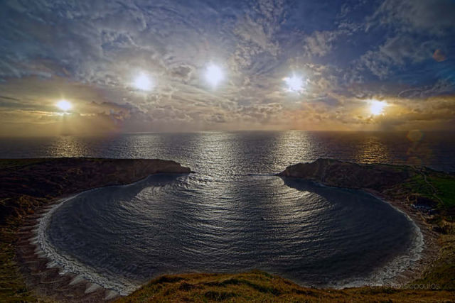 Winter Solstice from Lulworth Cove