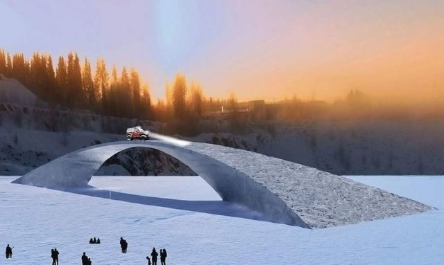 World's longest ice bridge in Finland