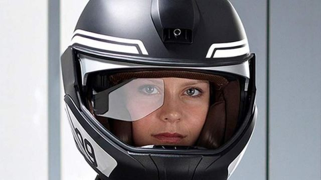 BMW motorcycle Laser light and Helmet Head-Up Display