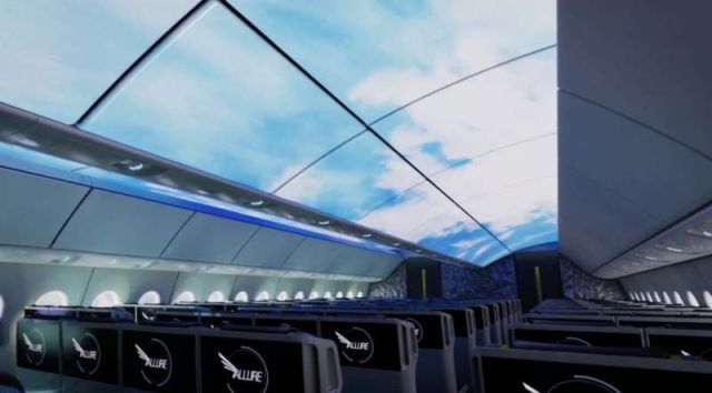 Airplane Cabin of the future by Boeing