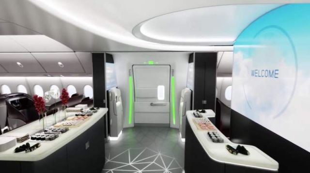 Airplane Cabin of the future by Boeing (4)