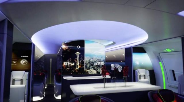 Airplane Cabin of the future by Boeing (3)