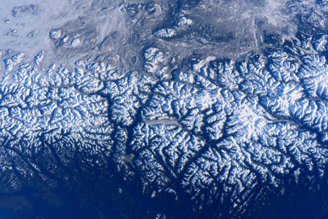 British Columbia's Coast Mountains from Space Station
