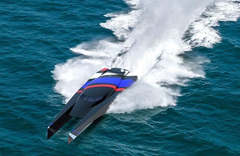 Team Great Britain wave-piercing powerboat (5)