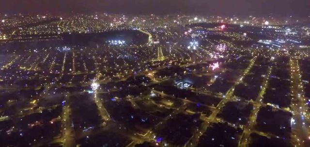 Fireworks over Lima, Peru by Drone