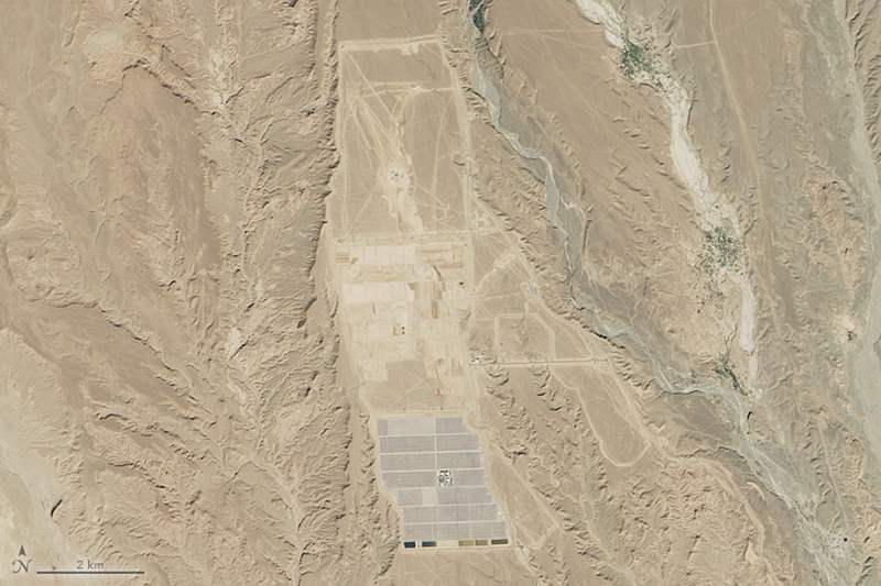 Major Solar plant in the Sahara