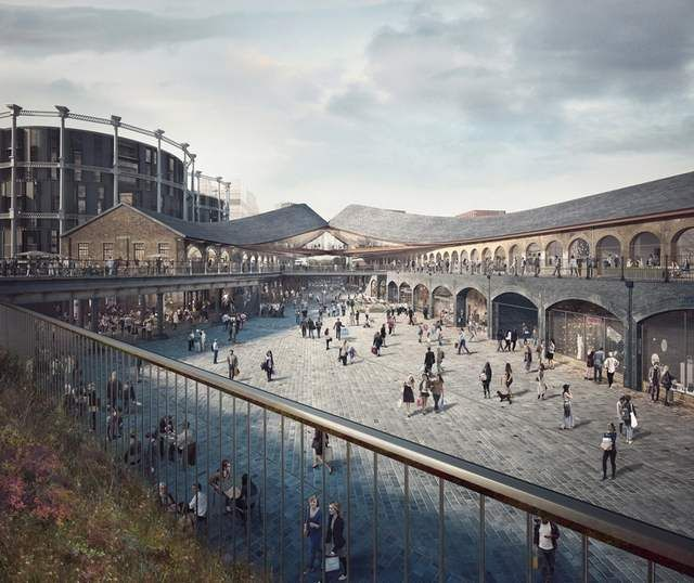 Shopping Center in London's King's Cross by Heatherwick