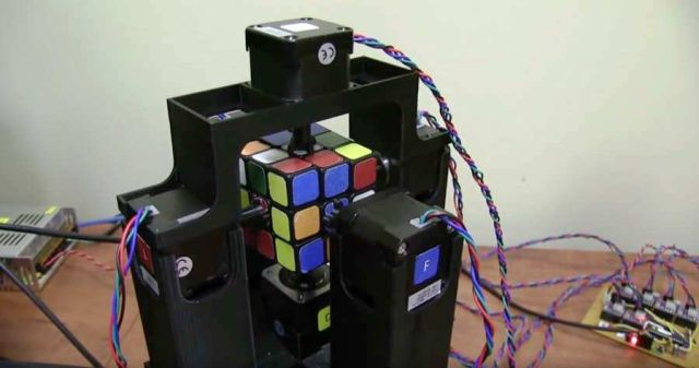 Solving a Rubik's Cube in One Second