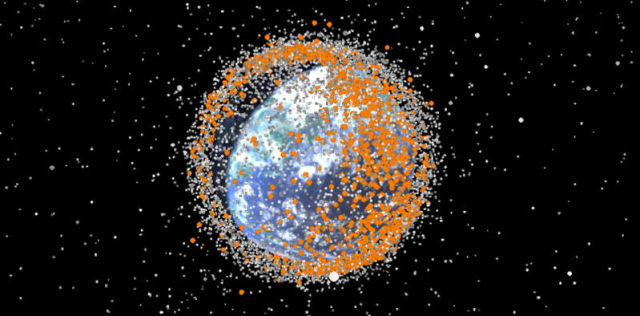 Space Debris from 1957 - 2015
