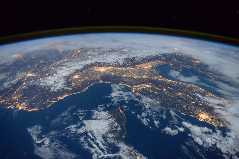 The Alps and the Mediterranean from Space Station